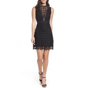 Sam Edelman Star Lace Sheath Black Dress Size 4